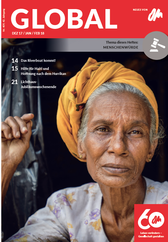 Coverfoto der Global 409, Dez17_Jan_Feb18_Rohingya Frau mit gelben Turban