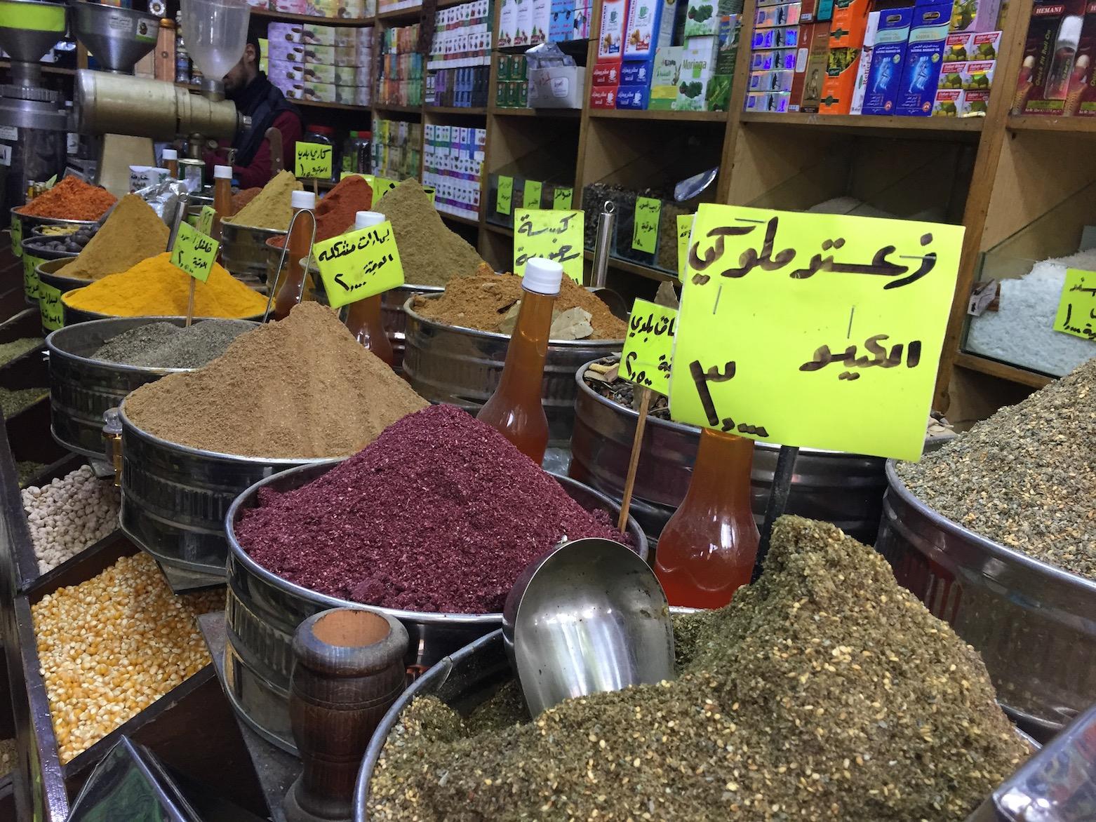Gewürze auf einem Basar in Jordanien