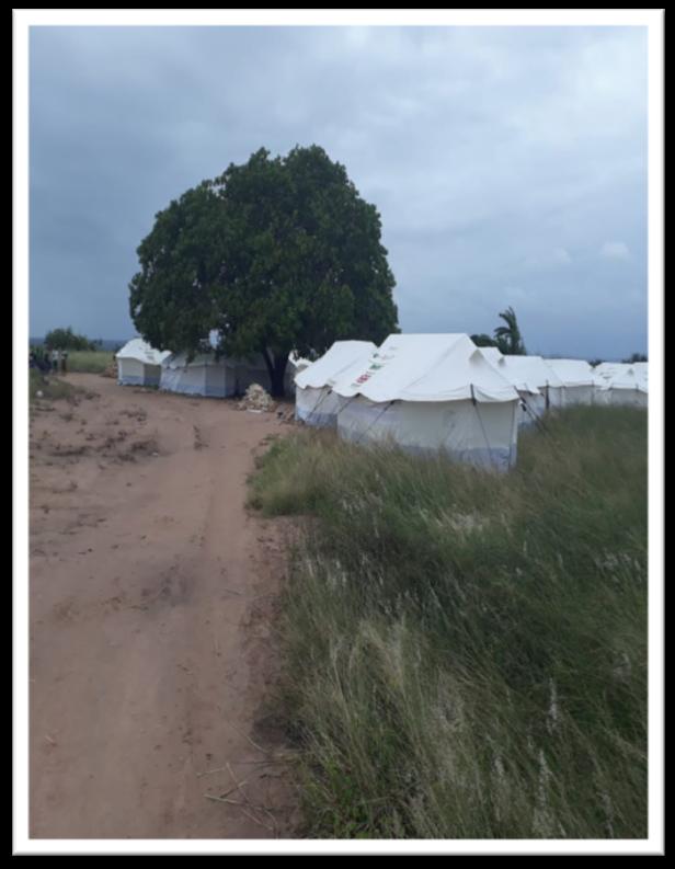 Notunterkünfte in Mosbambik nach Zyklon Idai