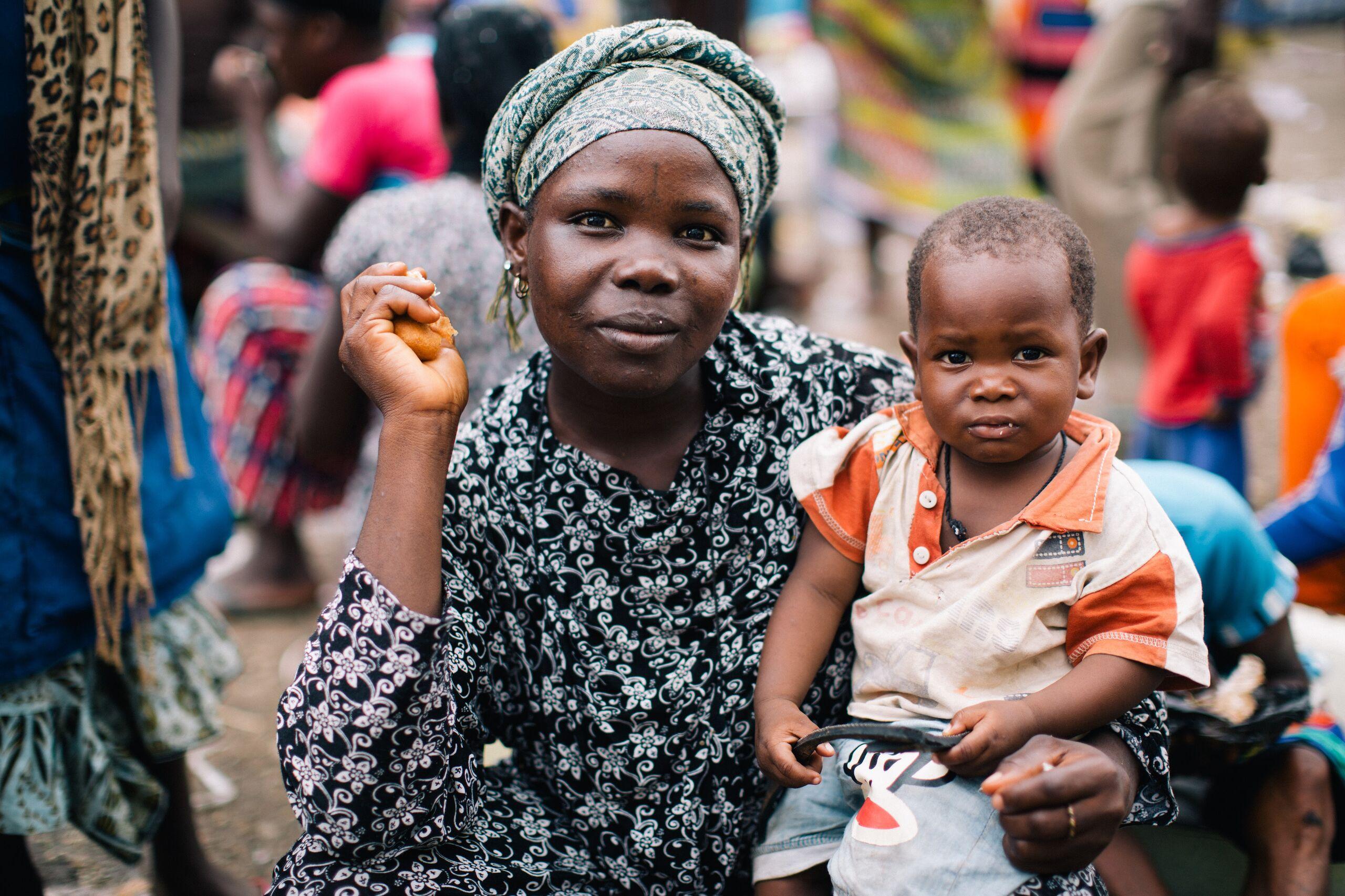 Eine Familie in Westafrika
