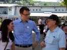 Direktor Doron Lukat und seine Frau Lilian im Gespräch mit OM-Gründer George Verwer