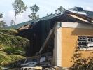 Eingestürztes Haus nach dem Hurrikan Dorian