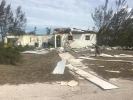 Vom Hurrikan Dorian zerstörtes Haus