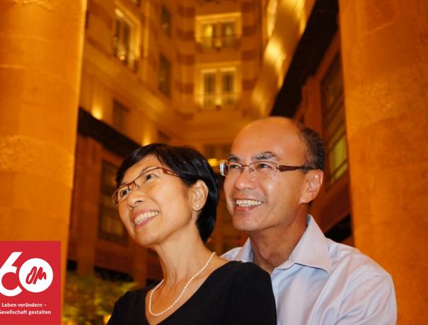 Rodney Hui, Leiter von OM Singapur mit seiner Frau Irene