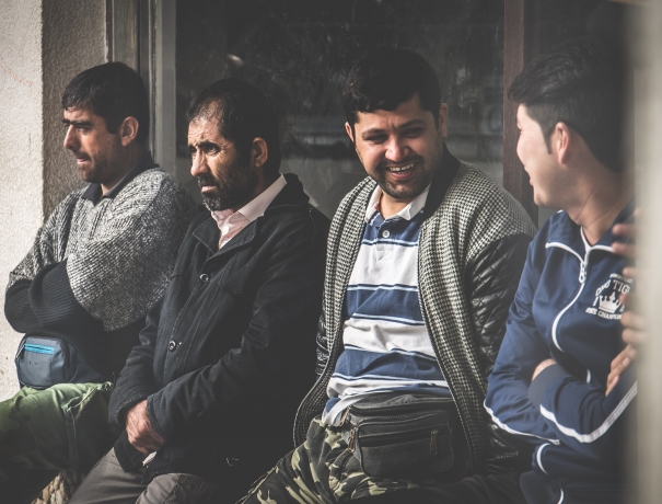 Flüchtlinge im Gespräch
