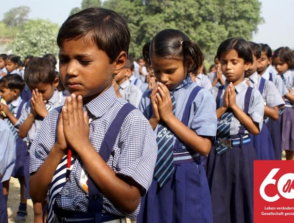 Dalit-Schüler einer Schule von OM/Good Shepard in Indien