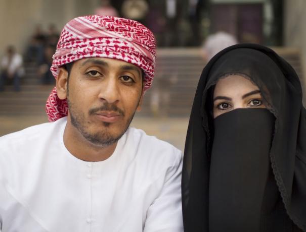 Ein arabisches Ehepaar