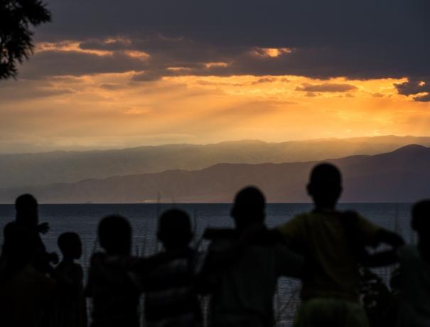 Aufgehende Sonne in Afrika