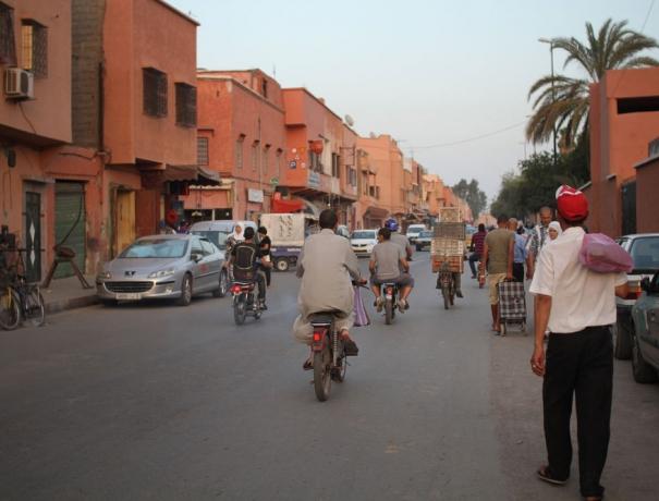 Straßenszene in Nordafrika