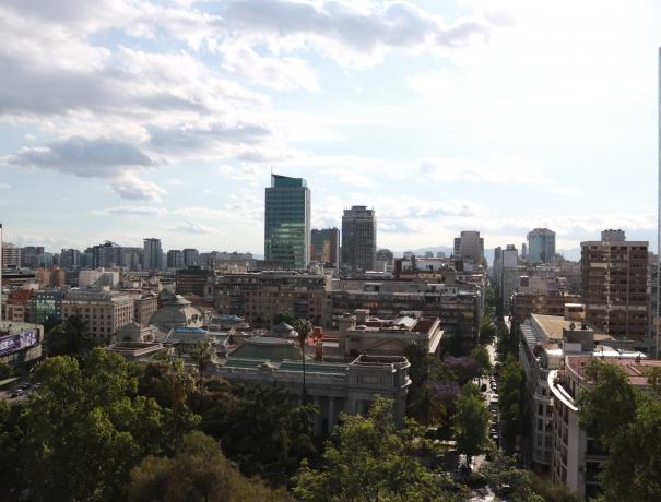 Ausblick auf die Skyline von Santiago