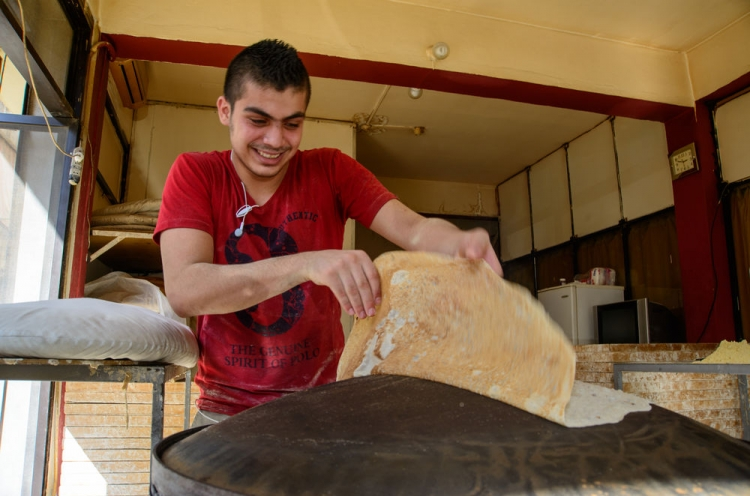 Brotbacken im Libanon