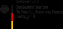 Wappen Bundesministerium für Familie, Senioeren, Frauen und Jugend, das den IJFD fördert