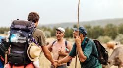 Love Moldova trekking - chance meetings on the way