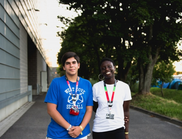 Two Portuguese teens raised money for two years to come to TeenStreet.